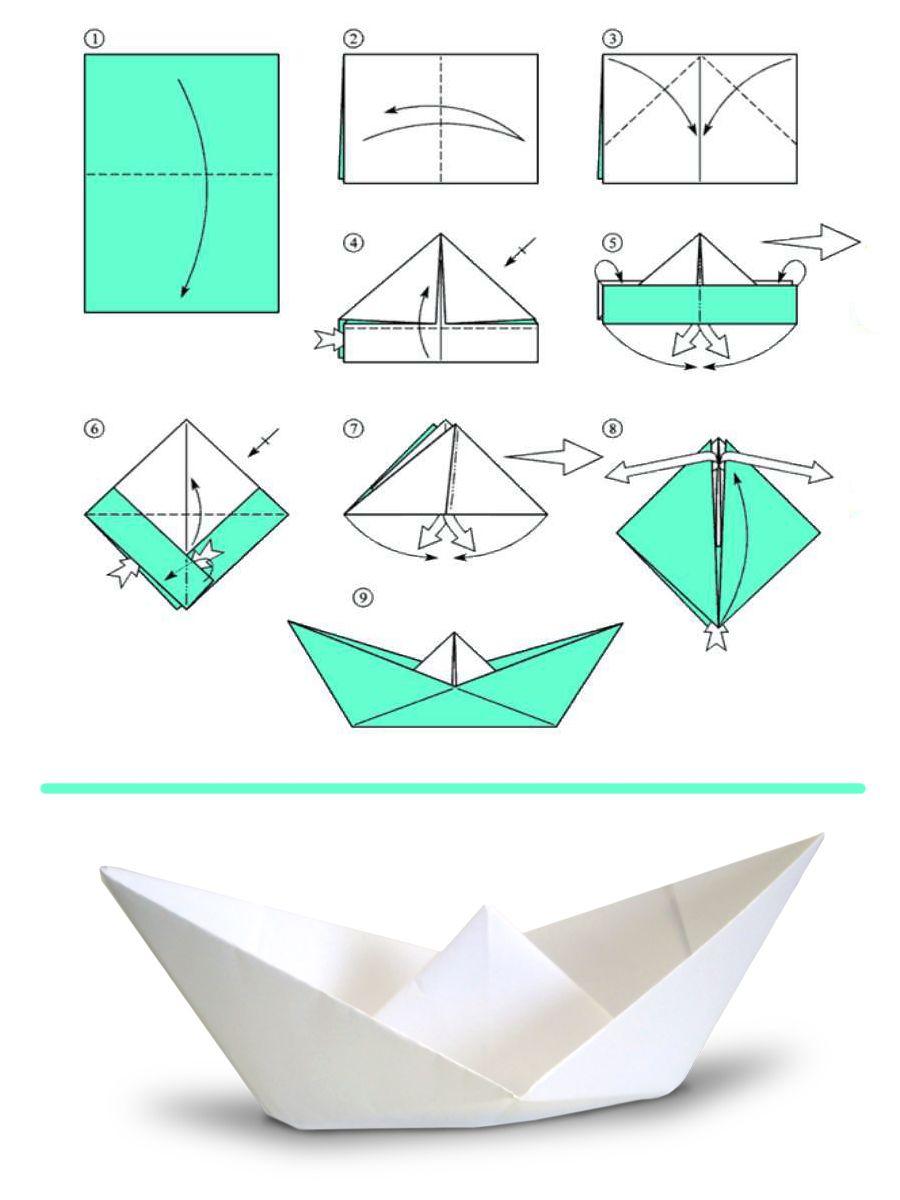 как сделать из бумаги военную лодку