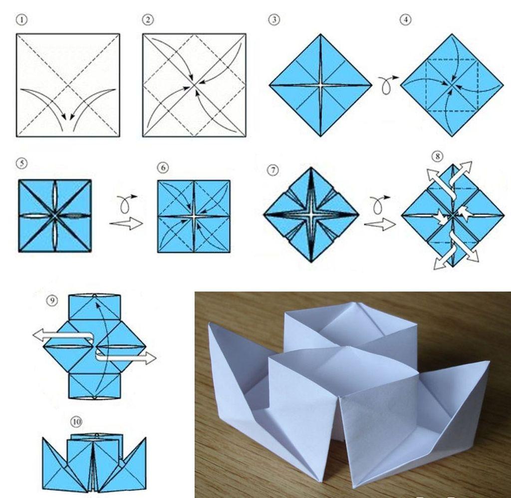 Делаем двухтрубный оригами пароход из бумаги
