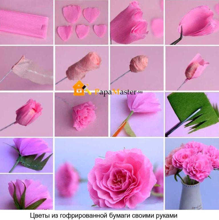 Гофрированная бумага цветы розы