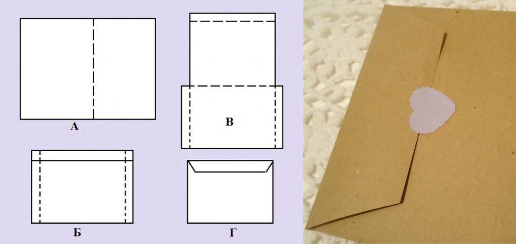 Схема изготовления конвертика №3