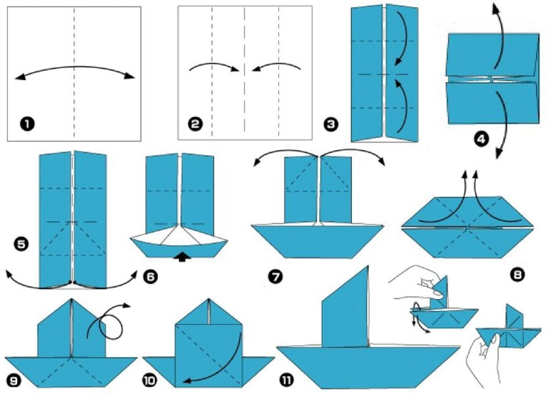 Как из бумаги сделать кораблик с парусом