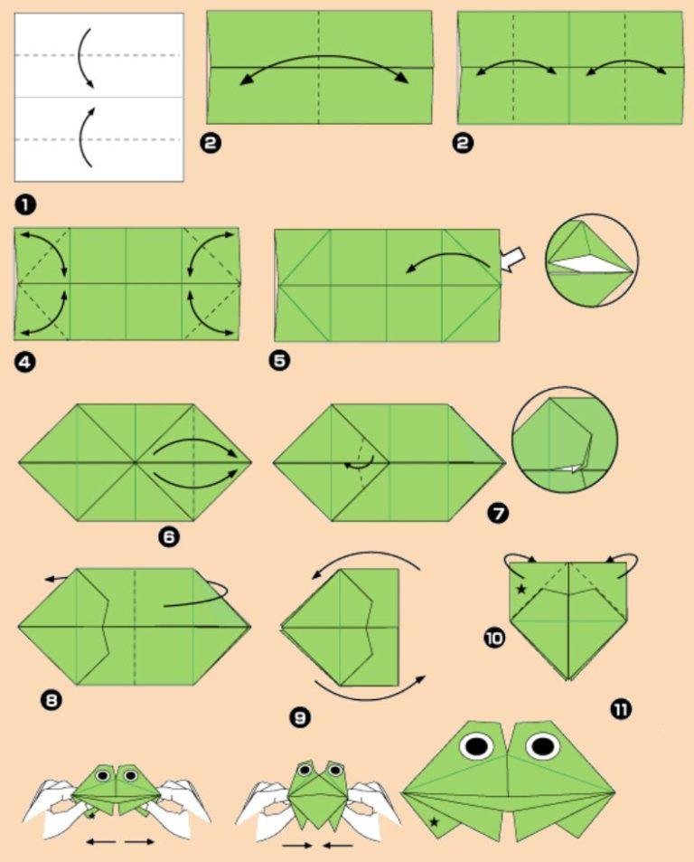Как из бумаги сделать жабу