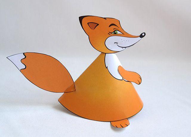 Как склеить бумажную лисичку