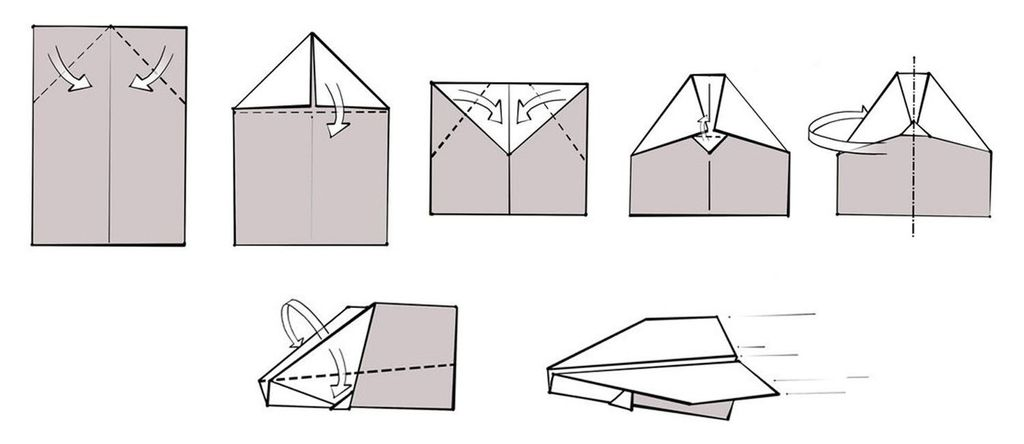 Как сделать простой самолет из бумаги