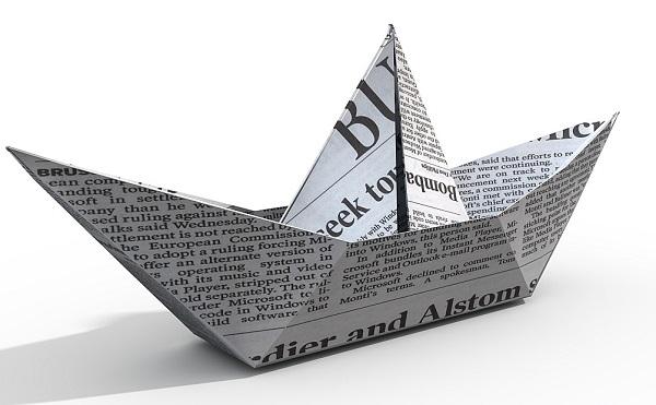 Бумажный кораблик из газеты