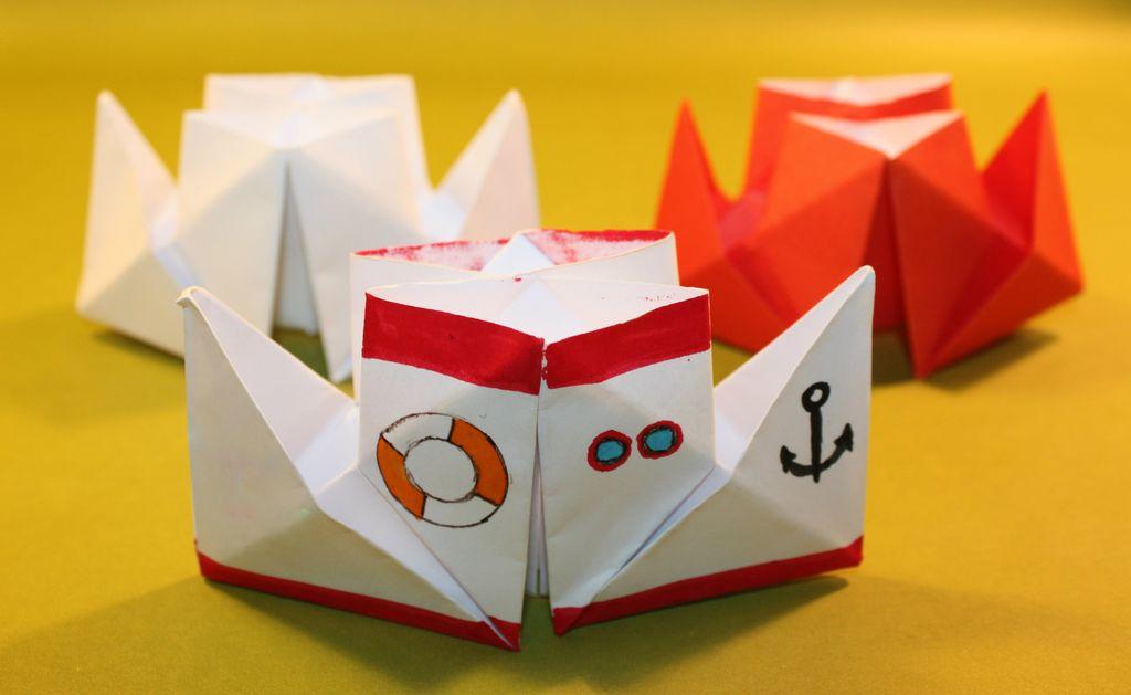 Как сделать пароход из бумаги