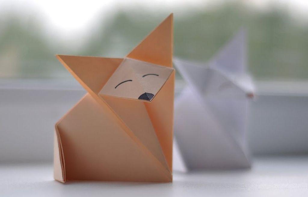 Как сделать лису из бумаги