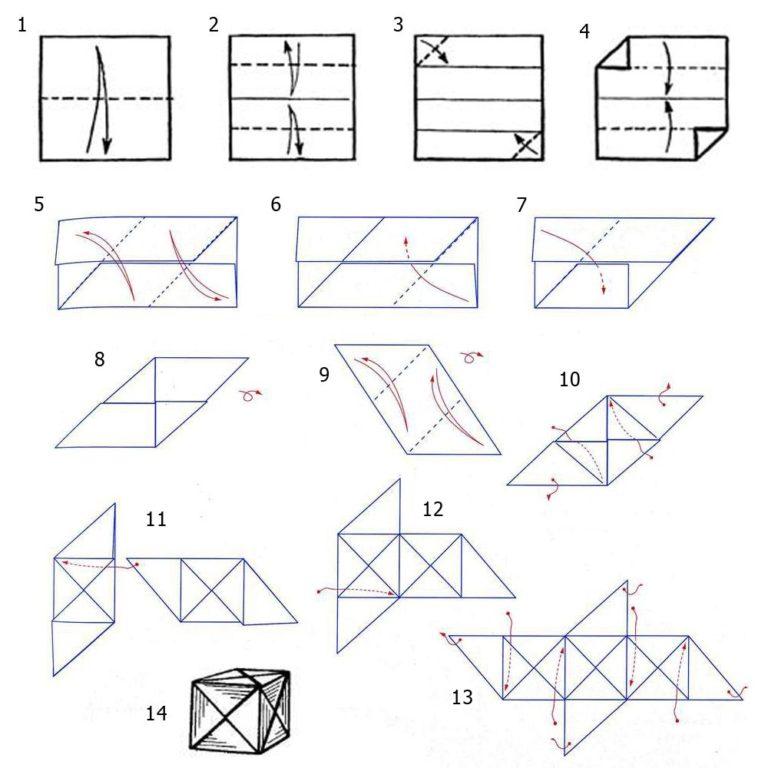 кубик картинки оригами