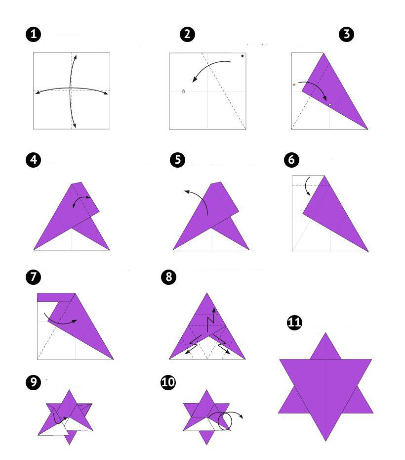 Рождественская вифлеемская бумажная звезда
