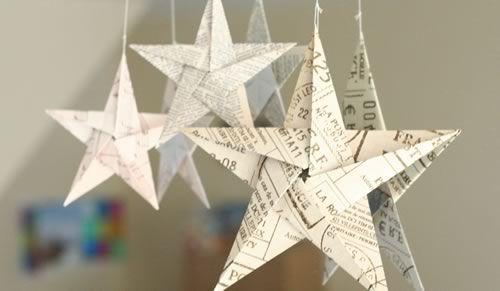 Объемная выпуклая звезда из бумаги