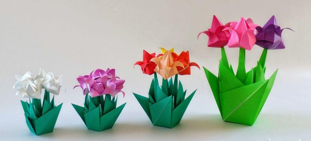 Красивые тюльпаны из бумаги своими руками