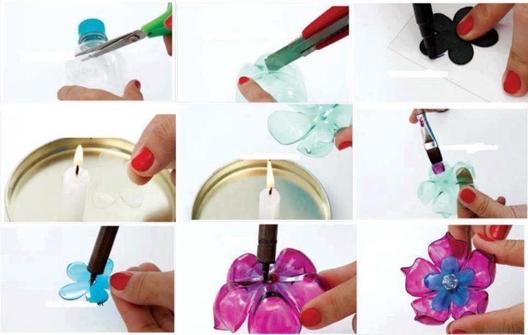 Как сделать из пластиковых бутылок розу