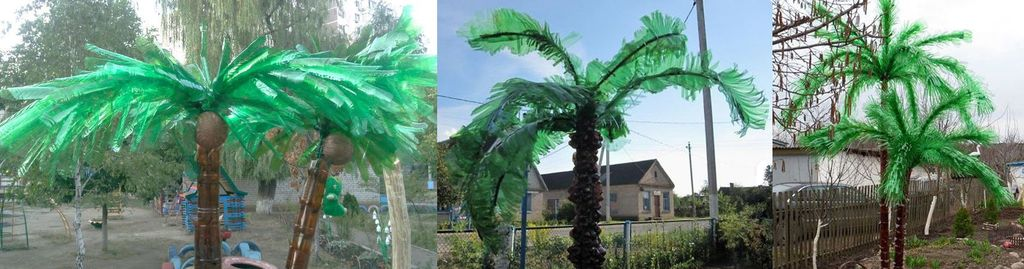 Варианты изготовления кроны для пальмы