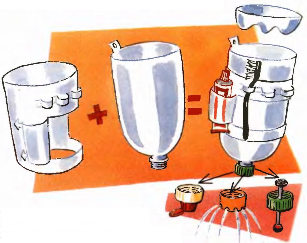 Схема изготовления умывальника из пластиковой бутылки