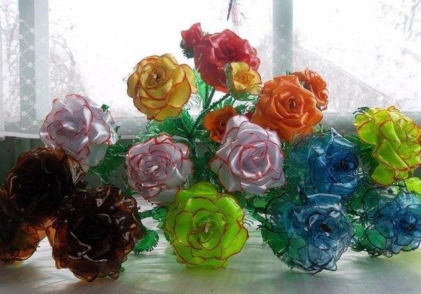 Букет пластиковых роз