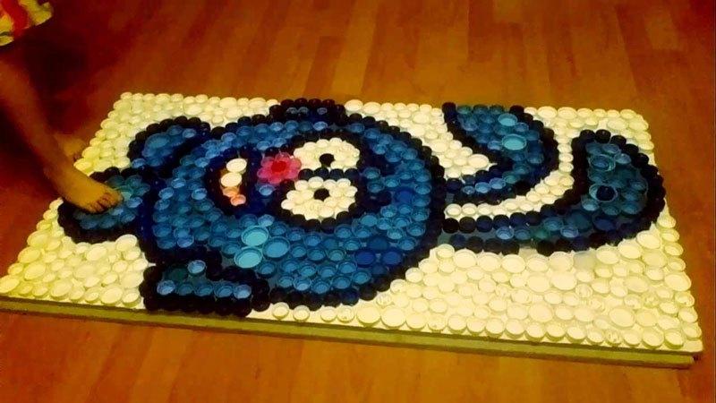 Массажный коврик, сделанный своими руками