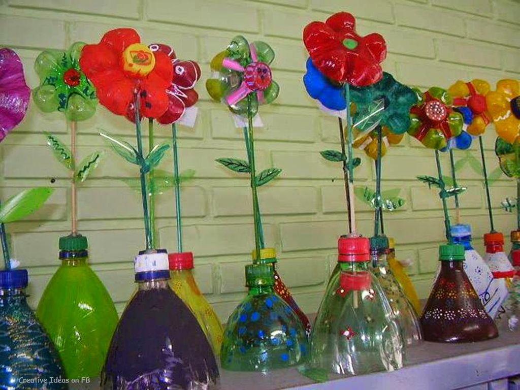 Поделки из бутылок для детского сада описание